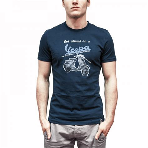 T Shirt Vespa Vintage Retro vespa s t shirt blue that s italia