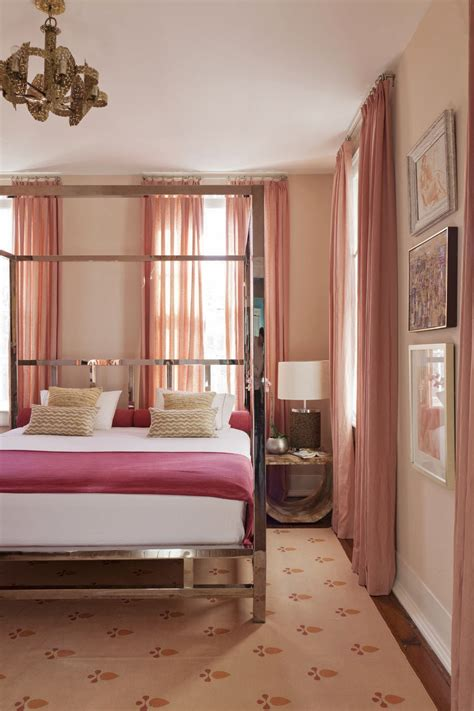 Beige And Pink Curtains Decorating 10 Calming Bedrooms With Analogous Color Schemes