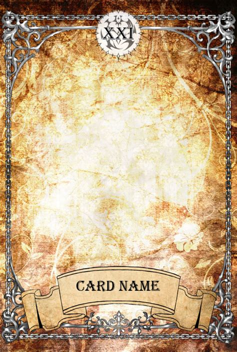 Tarot Card Template by Ph Tarot Card Template By Amarevia On Deviantart