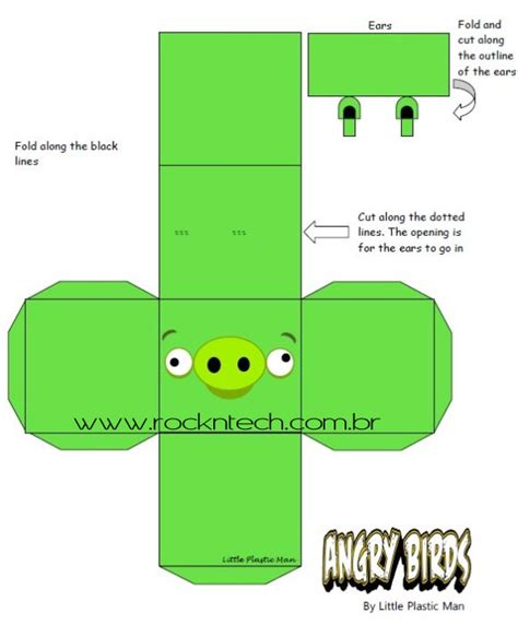 Papercraft Bird Template - angry birds papercraft templates papercraft