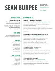 resume sean burpee art director