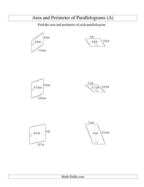 Area Worksheets 6th Grade by 13 Best Images Of Area And Perimeter Worksheets