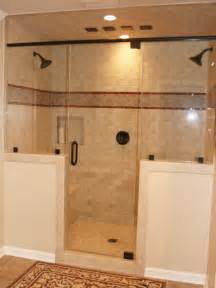 Half Bathroom Tile Ideas Yes Just What We Both Wanted Half Wall And Two Shower