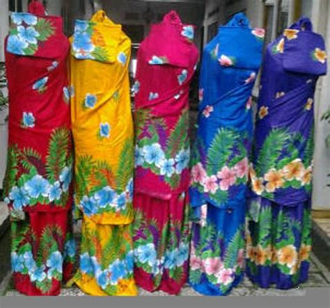Mukena Bali Bunga Tabur Ecer mukena bali motif bunga sepatu mukbal santung murah