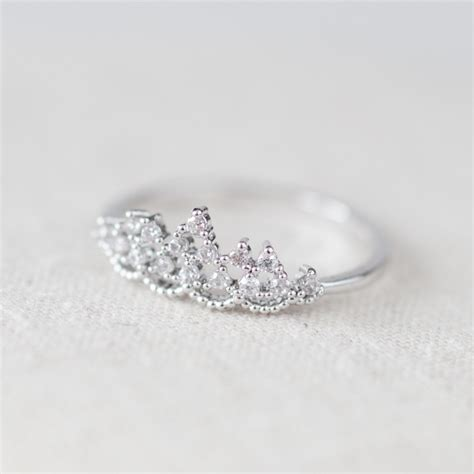 delicate tiara ring in white gold on luulla