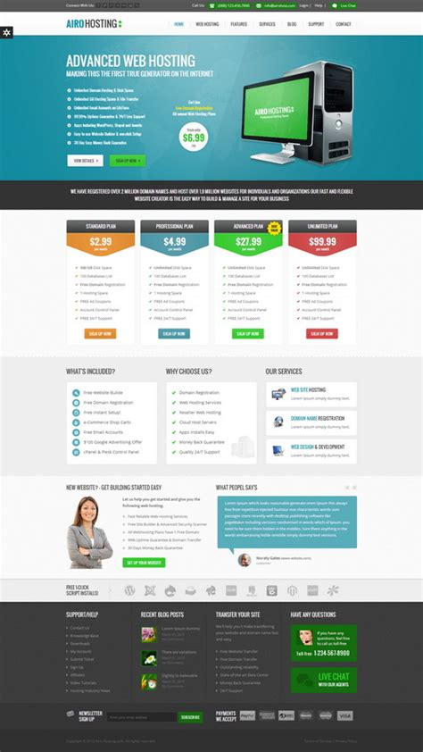 46 best html web hosting templates designscrazed