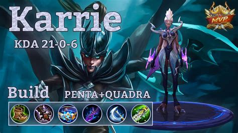 karie mobile legend mobile legends karrie penta match with a lot of
