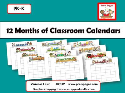 printable monthly calendar kindergarten 8 best images of preschool printable calendar month
