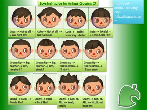 animal crossing boy hairstyles boys hairstyles on animal crossing city folk 76282 thread