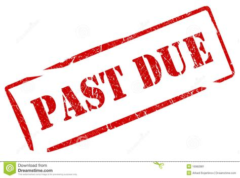 past due notice clipart
