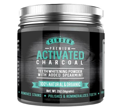 activated charcoal natural teethtooth whitening powder