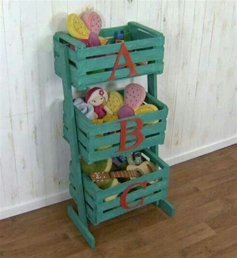 organizador de juguetes hecho  cajones de fruta reciclaje pinterest furniture pallet