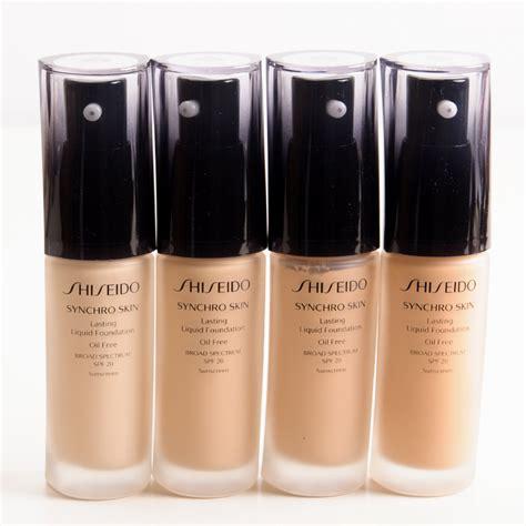 Shiseido Liquid Foundation shiseido synchro skin lasting liquid foundation spf 20