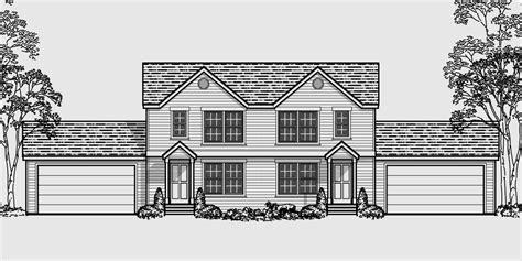2 bedroom house plans with basement duplex house plans two unit home built as a single family