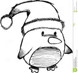 sketchy christmas penguin vector royalty free stock image image 10231416