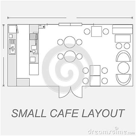 layout for small cafe small cafe layout stock vector image 39652283