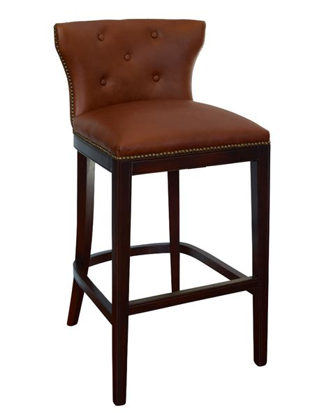 low back leather bar counter stool collection