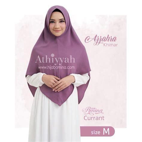 Zahra Khimar Pet Ukuran L khimar azzahra currant hijabamina