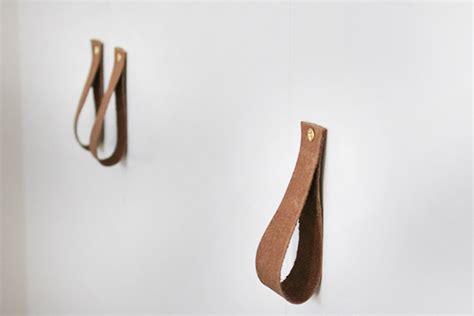 leather drawer pulls uk diy leather cabinet pulls almost makes perfect
