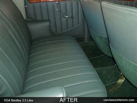 bentley interior back seat bentley restoration reupholster bentley upholstery