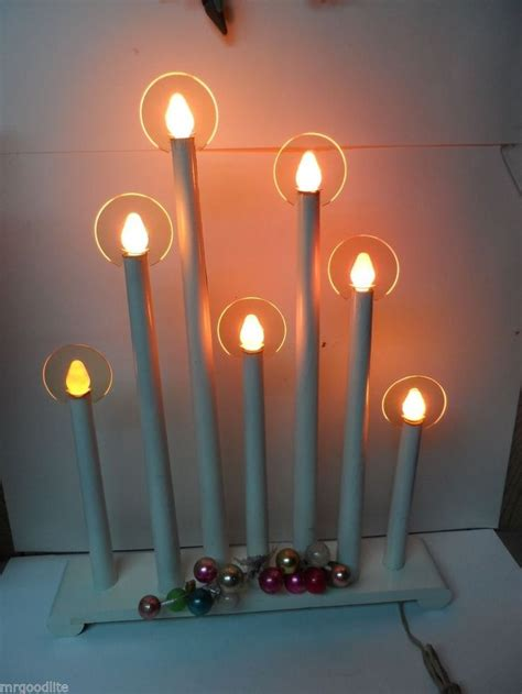 giant noma 7 light c 7 electric christmas window candles w