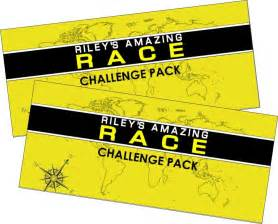 printable amazing race birthday invitations amazing race party supplies and printables including