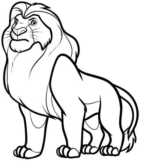 belajar mewarnai singa si raja hutan