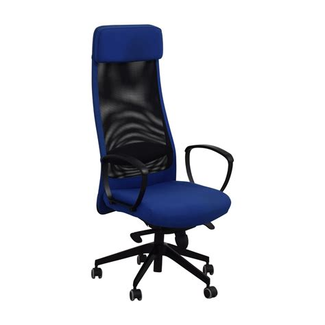 82 off ikea ikea markus blue swivel chair chairs