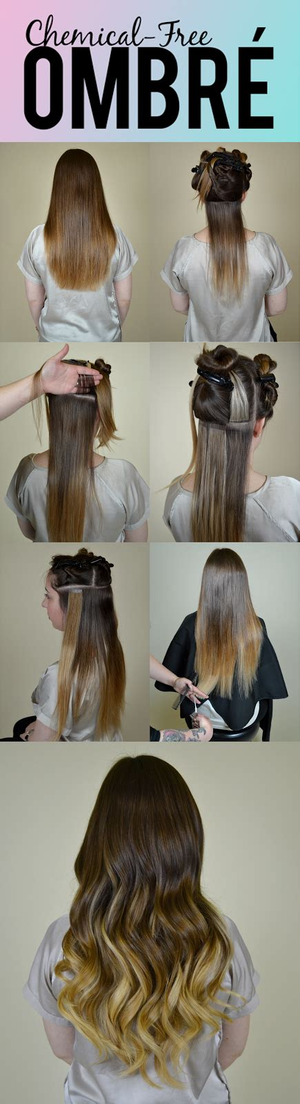 how to section hair for ombre hotheads hair extensions chemical free ombr 233