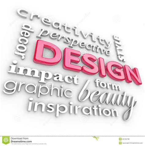 design online word design words collage creative perspective style royalty