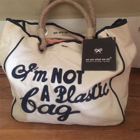 Anya Hindmarchs Im Not A Plastic Bag Bag by 66 Anya Hindmarch Handbags Nwt Im Not A Plastic Bag
