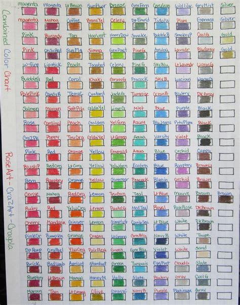 list of colors a z 19 best ideas about color pencil color charts on