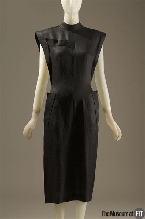 1983 dress styles claude montana black linen dress 1983 france museum at