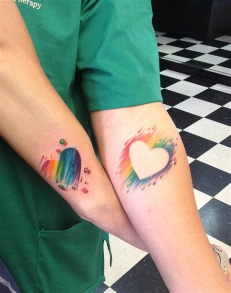 cute small matching tattoos tattooed couples images