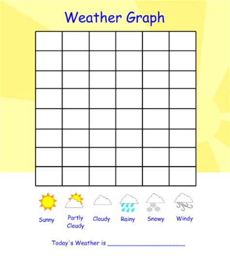 printable graphs for preschoolers 7 best images of kindergarten weather chart printable