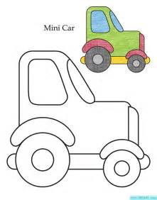 儿童汽车涂色画