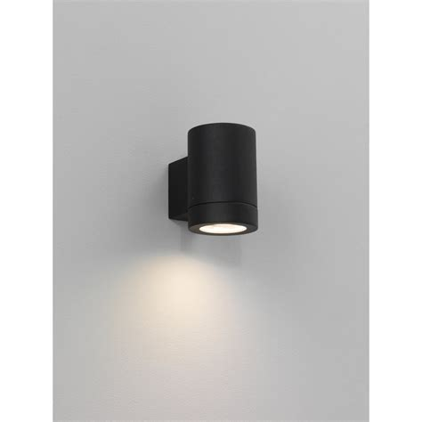 porto plus single 0624 black exterior lighting wall lights