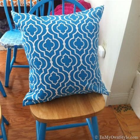 How To Make Covers Without Sewing by How To Make A Fabric Pillow Cover Without Using A Sewing