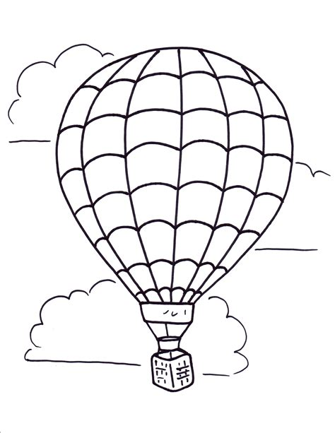 printable coloring pages air balloons air balloon coloring pages free large images