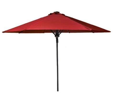 Patio Umbrella With Lights Qvc Atleisure 9 Automatic Pop Up Patio Umbrella W Solar