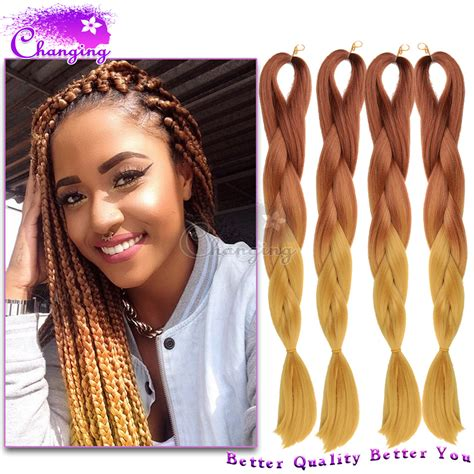 xpressions hair for braiding 10pcs brown blond two tone kanekalon jumbo braid 24 inch