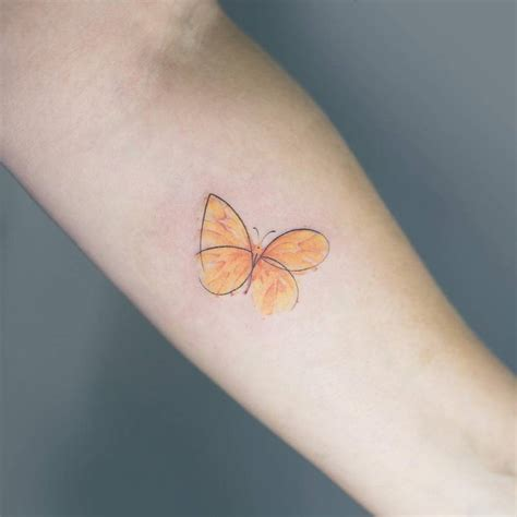yellow butterfly tattoo tattoos sketchy yellow butterfly on the