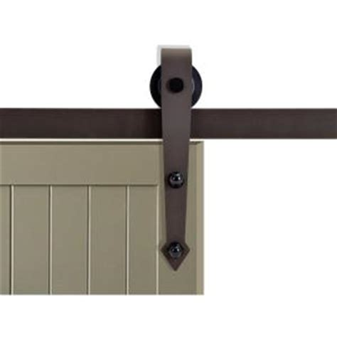 Calhome 72 In Antique Bronze Vintage Arrow Barn Style Barn Door Track System Home Depot