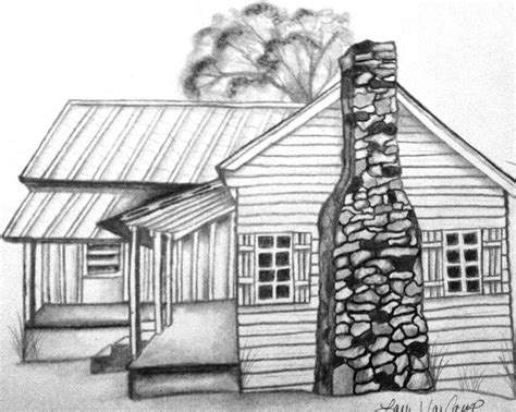 cabin sketch log cabin coloring pages coloring home