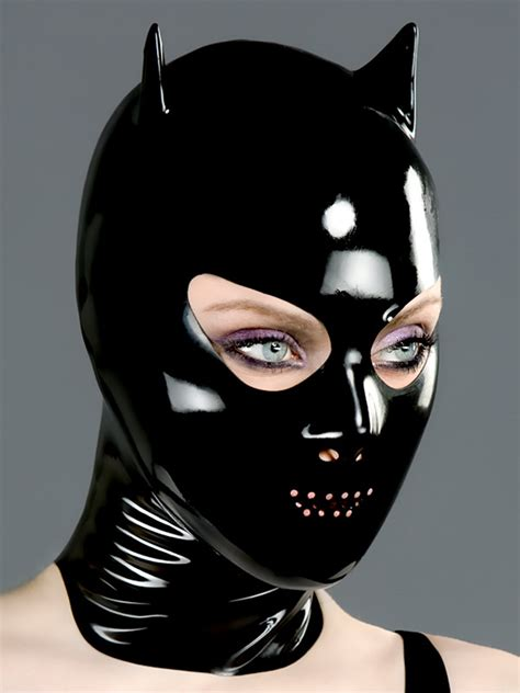 devil mask with nose and perforated mouth polymorphe