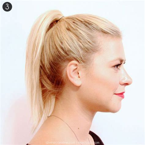 short hairs back of neck poney tail hair how to a high ponytail that won t fall more com