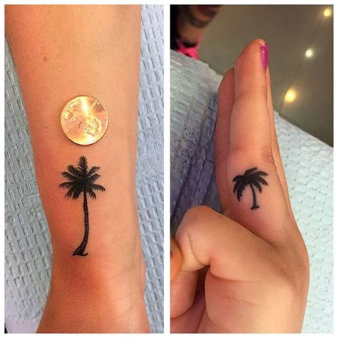 small silhouette tattoo 21 best palm tree images on palm