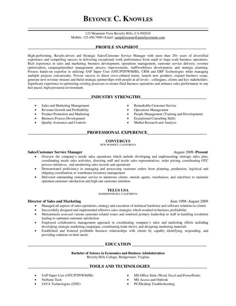 executive level resume template sle resume cover