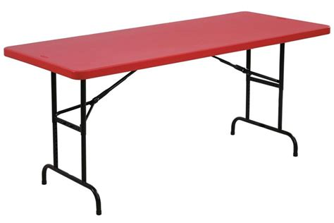 Adjustable Height Folding Table 6ft Height Adjustable Folding Table Innovators International Ltd