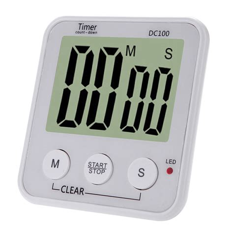 Digital Count Timer Jp9913 lcd digital cooking kitchen countdown timer alarm count timer sales white tomtop